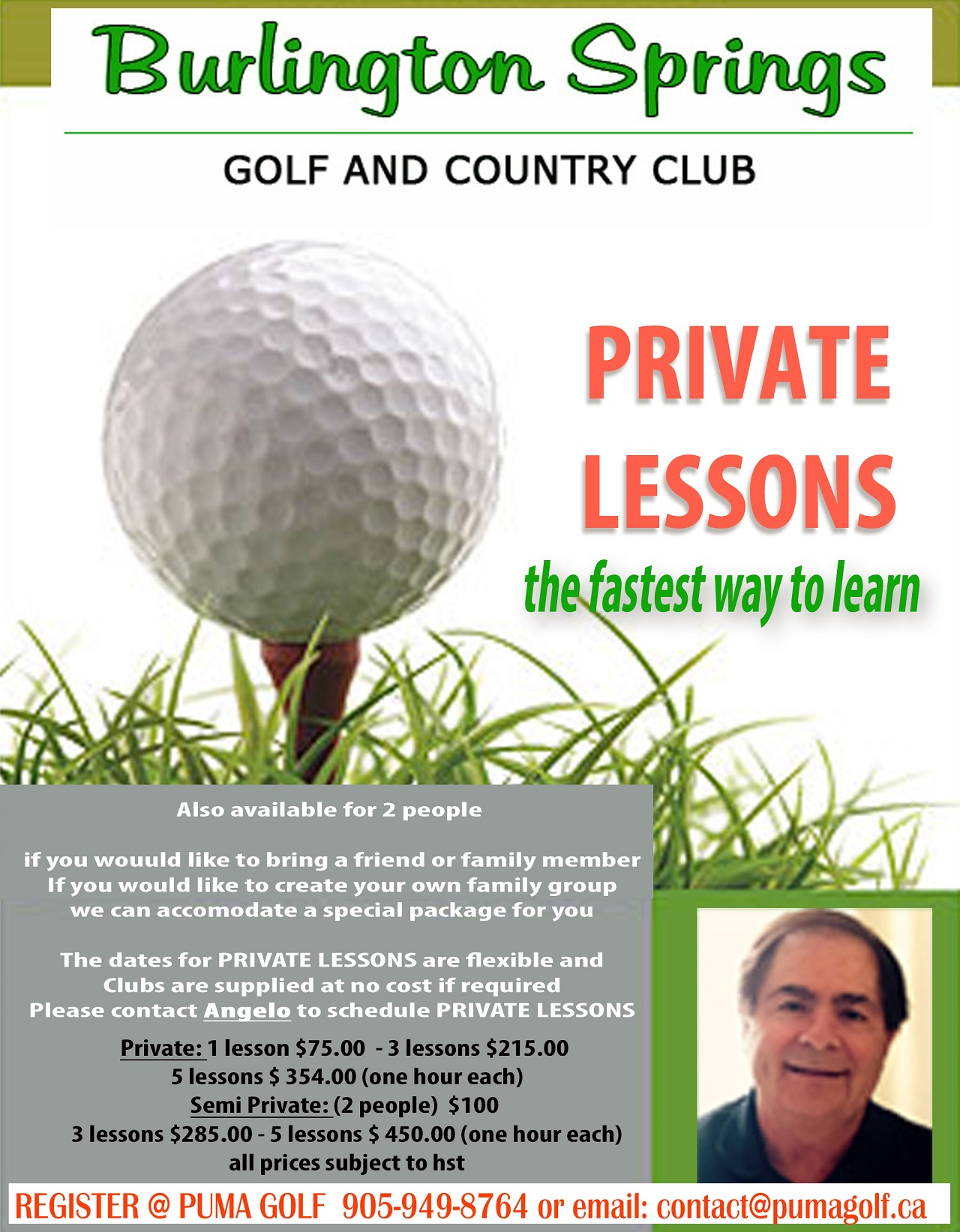 Private Lessons 2018